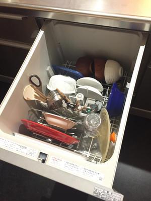 ビルトイン食洗機、標準の使い勝手 - ゆみへいのお家