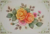 アイアントレイ用に描きました お花さんたち~です。 - 大畑悦子の想い出ペインティング