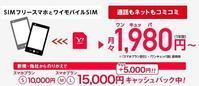 週末限定割引は終わらない ワイモバSIMのみ契約で休日だけ最大2万円にキャッシュバック増額 - 白ロム転売法