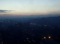済南の朝焼けを見ました。(撮影:11月10日) - ご無沙汰写真館