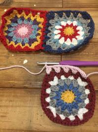 【CAL5 】モチーフ4枚のつなぎ方 - Crochet with Ricky