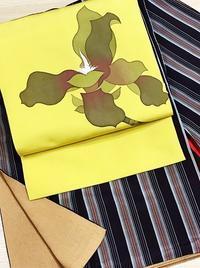 古いお召と染め名古屋帯 - ★☆リユース着物 たんす屋恵比寿店のブログ☆★    東京渋谷区恵比寿リユース着物販売・買取
