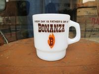 Fire King Advertising Mug BONANZA  +  明日は通常通り営業 - DELIGHT CLOTHING&SUPPLY