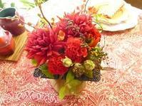 テーブルコーディネイトのためのお花レッスン - カルトナージュ・お茶箱 京都・大阪・奈良 paris好きblog