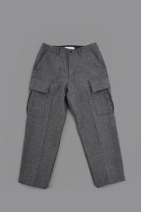 STILL BY HAND Melton Cargo Pants (Gray) - un.regard.moderne