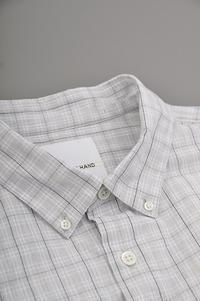 STILL BY HAND L Gray Check B.D Shirt - un.regard.moderne