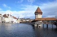 古都ルツェルンに架かるヨーロッパ最古の木造橋 - 空想地球旅行