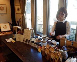和紙フィルター作品展会期中☆ミニコーヒー教室でした - ギャルリ・ド・ぽえむ本格珈琲とギャラリーの店