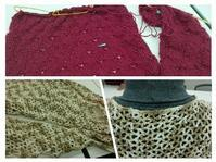 ウェア着々と進んでいます@武蔵小山編み物レッスン - 空色テーブル  編み物レッスン&編み物カフェ