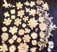 パリの蚤の市から*お花のクロシェパーツ - BLEU CURACAO FRANCE