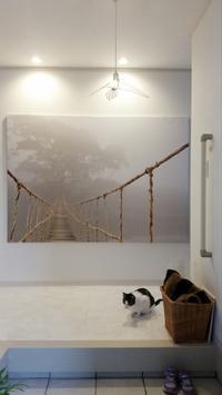 IKEAの大きなアート「壁美人」で飾りました - ねことおうち