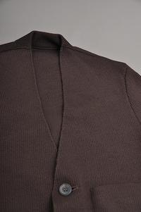 ゴーシュ Italian Wool Knit Cardigan JK (Brown) - un.regard.moderne