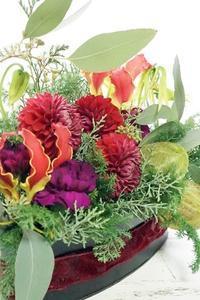 アトリエは一気にクリスマシー♪ - お花に囲まれて