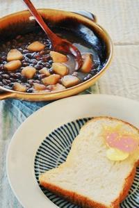 朝の2分の1定番は<スープとパン> - 「あなたに似た花。」