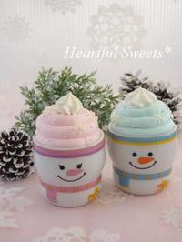 雪だるまのカップスイーツ。・* - Heartful Sweets