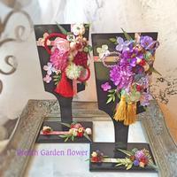 羽子板アレンジのオーダー - *kiko's  diary* 京都でプリザやリースなどの花雑貨とお庭のお店[Breath Garden]をしています!