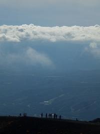 遠くに雲海、きれいだな。 - 空ヤ畑ノコトバカリ