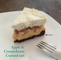 りんごとクリームチーズのカスタード・タルト - 娘と息子へ オカンのおウチごはん