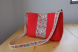 リバティ Wiltshire(ウィルトシャー)×帆布のショルダーバッグ - le petit sac