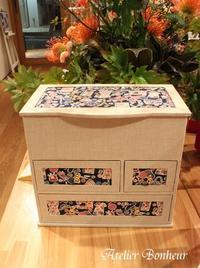 幸せ色のカルトナージュ 裁縫箱  - 今日も元気で♪♪