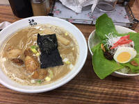 金沢(有松):麺や 福座(フクゾ) 「かき塩ラーメン」 「煮干し豚骨」 - ふりむけばスカタン