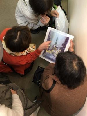 大阪個展二日目終了 - 赤坂孝史の水彩画