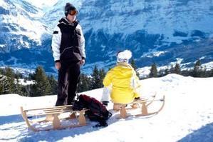 グリンデルワルトで絶景スキー&ソリでアドレナリン全開    - 空想地球旅行