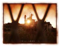 夕日と工場 - 行く当てのない言葉