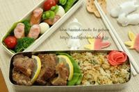 和風炒飯と豚から揚げ弁当&牛しゃぶDEおうち飲み - おばちゃんとこのフーフー(夫婦)ごはん