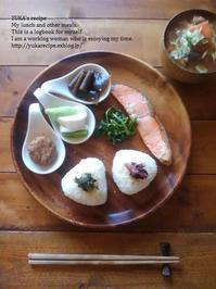 12.5 月曜鮭の朝ごはんプレート&美しいお漬もの - YUKA'sレシピ♪