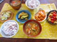 朝ごはん 豚汁 ひよこ豆のタルト - 恵茶房 meg tea labo