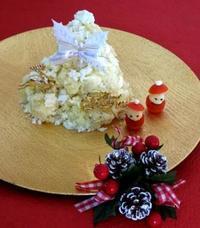 クリスマスに・・ポテトとクリチの白いツリーサラダ☆ - パンのちケーキ時々わんこ