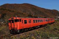 落葉の山並みをバックに。 - 山陽路を往く列車たち