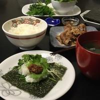 生姜焼き風豚肉の手巻き寿司 - Mme.Sacicoの東京お昼ごはん