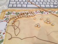コットンパールのネックレス作り - フェイシャルエステサロン|伊丹市クチコミ件数No1|エステサロン ラ・フェリーチェ