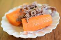 にんじん牛肉塩煮 - 小皿ひとさら