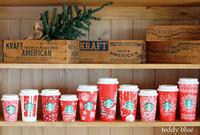 Starbucks red holiday cups  スターバックス レッドホリデーカップ - teddy blue