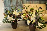 お寺の行事の花  成道会と報恩講 - 北赤羽花屋ソレイユの日々の花