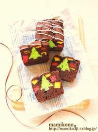クリスマスのかくれんぼケーキ。 - mamikono。~ハレの日のお菓子~