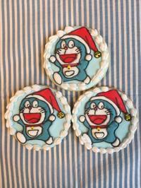 ドラえもんサンタクッキー - 調布の小さな手作りお菓子・パン教室 アトリエタルトタタン