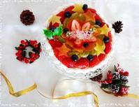 フルーツパラダイス☆リース仕立てのクリスマスケーキ - パンのちケーキ時々わんこ