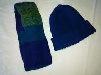 又、手編みニット帽(ワッチキャップ)とスヌード編んじゃいました!! - 健気に育つ植物たち