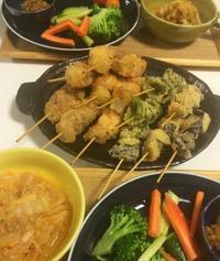 串カツと白菜とキムチのツナ缶煮で家飲みごはん・・・12/14 - vegechi