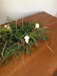 出張生けこみ クリスマスのアレンジメント - le jardinet