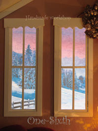 冬の窓 - ドールハウス 手作り夢工房