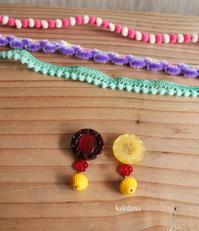 ヴィンテージボタンのピアス - カキリマ・バリ島・アジア雑貨・エスニック衣料のネットショップ店主の日記