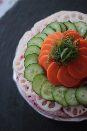 ひな祭り  野菜のケーキ寿司 - Happy Days