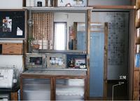 冷蔵庫と電子レンジを隠す壁作り*-DIY- - yasumin's cafe*