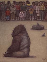 12月16日 追悼 ゴリラを見る人 - 川越画廊 ブログ