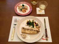 長イモのローズマリー焼きと海老とブロッコリーのエスカベージュ - ローズのマリ